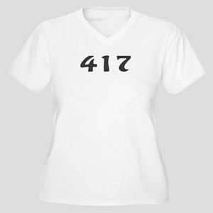 417 Area Code Women's Plus Size V-Neck T-Shirt