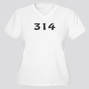 314 Area Code Women's Plus Size V-Neck T-Shirt