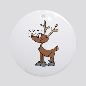 Rainbow Pride Deer Ornament (Round)