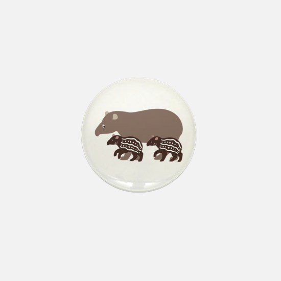 Tapir Family A Mini Button