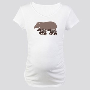 Tapir Family A Maternity T-Shirt