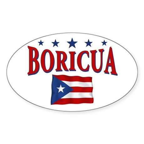 Puerto rican pride Oval Sticker