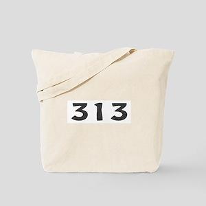 313 Area Code Tote Bag