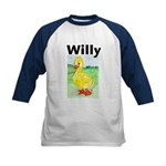 Willy the Duck Kids baseball Jersey