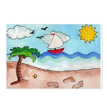 Sunny Beach Postcards (Package of 8)
