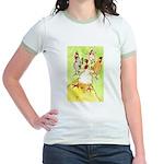 Dancing Chickens Jr. Ringer T-Shirt