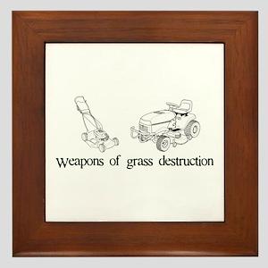 Weapons of Grass Destruction Framed Tile