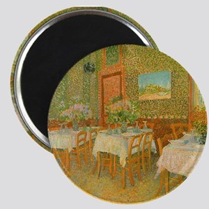 "Van Gogh Interior of a Restaurant 2.25"" Magnet (10"