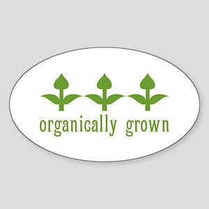 organically grown Oval Sticker