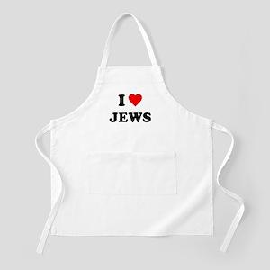 I Love Jews BBQ Apron