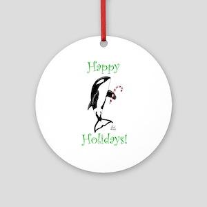 Christmas Killer Whale Ornament (Round)
