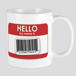 Hello, My Name is... Red Mug
