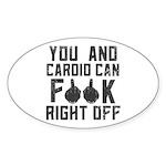 You and cardio Sticker