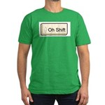 Oh Shift! key Men's Fitted T-Shirt (dark)