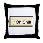 Oh Shift! key Throw Pillow
