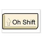 Oh Shift! key Rectangle Sticker 50 pk)