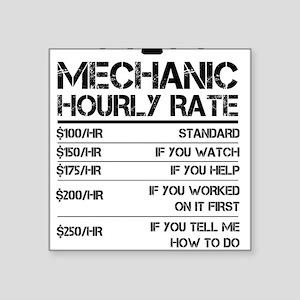 Mechanic Hourly Rate Funny Gift Shirt Labo Sticker