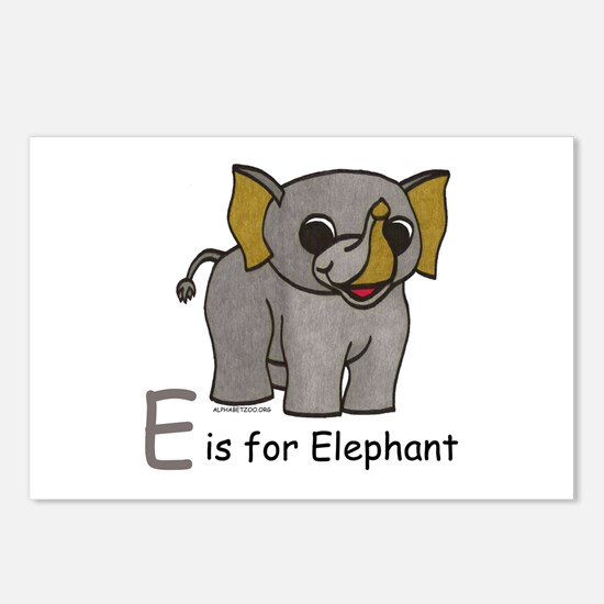 E is for Elephant Postcards (Package of 8)