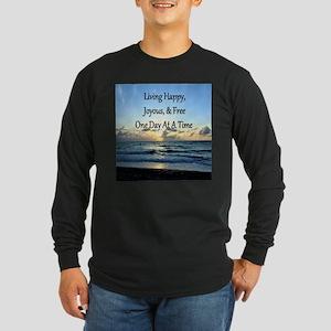 LIVING HAPPY Long Sleeve Dark T-Shirt