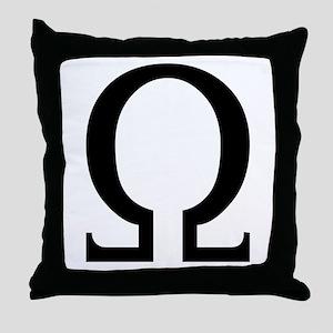 Omega (Greek) Throw Pillow