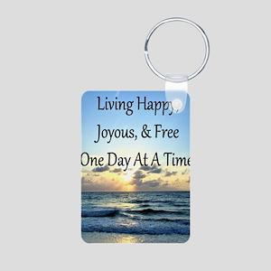 LIVING HAPPY Aluminum Photo Keychain
