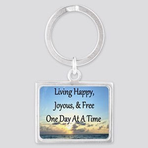 LIVING HAPPY Landscape Keychain