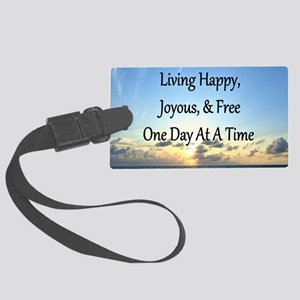 LIVING HAPPY Large Luggage Tag