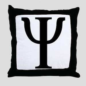 Psi (Greek) Throw Pillow