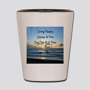 LIVING HAPPY Shot Glass