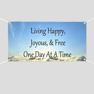 LIVING HAPPY Banner