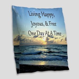 LIVING HAPPY Burlap Throw Pillow