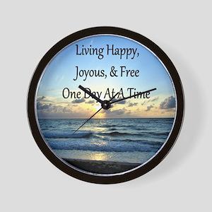 LIVING HAPPY Wall Clock