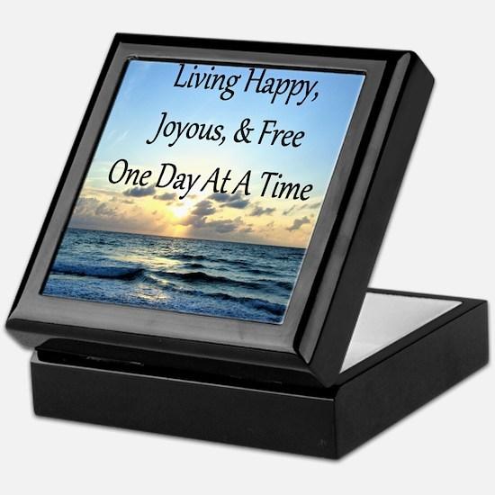 LIVING HAPPY Keepsake Box