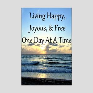 LIVING HAPPY Mini Poster Print