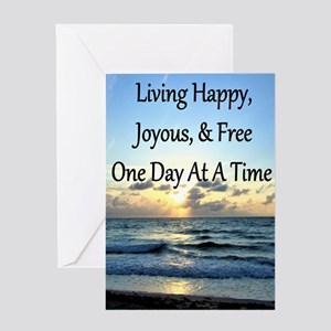 LIVING HAPPY Greeting Card