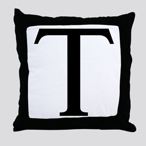 Tau (Greek) Throw Pillow