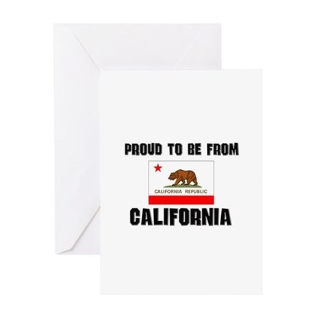 Proud To Be From Be CALIFORNIA Greeting Card