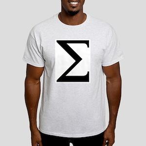 Sigma (Greek) Ash Grey T-Shirt