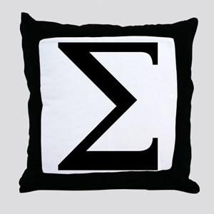 Sigma (Greek) Throw Pillow