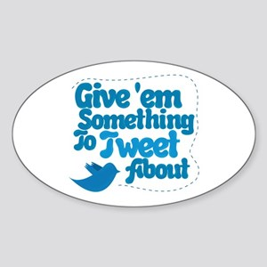 Tweet Blue Bird Oval Sticker