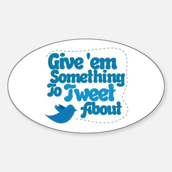 Tweet Blue Bird Oval Decal