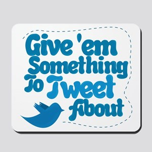 Tweet Blue Bird Mousepad