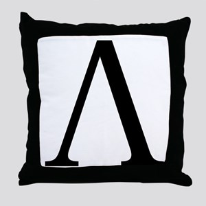 Lambda (Greek) Throw Pillow