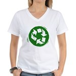 Recycle Women's V-Neck T-Shirt