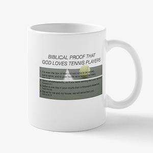 God Loves Tennis Mug