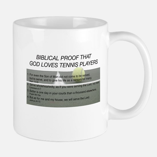 God Loves Tennis Mug