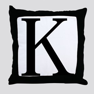 Kappa (Greek) Throw Pillow