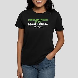 Lymphoma Patient Deadly Ninja Women's Dark T-Shirt