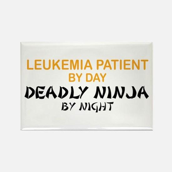 Leukemia Patient Deadly Ninja Rectangle Magnet