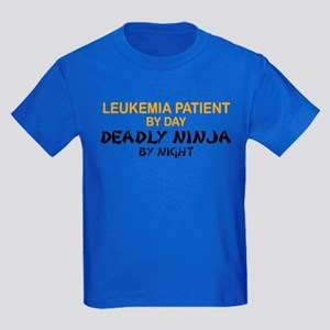 Leukemia Patient Deadly Ninja Kids Dark T-Shirt